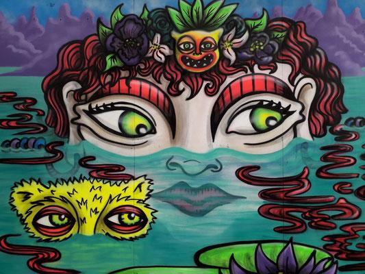 Girl in the Lake, Grimsby Urban Arts Festival, Grimsby, 2019