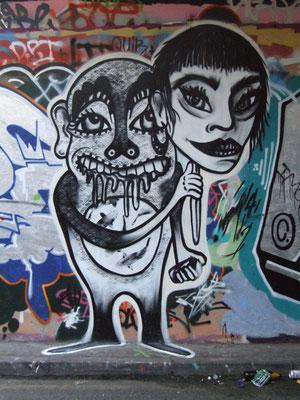 Self Portrait, Leake Street, London, 2010