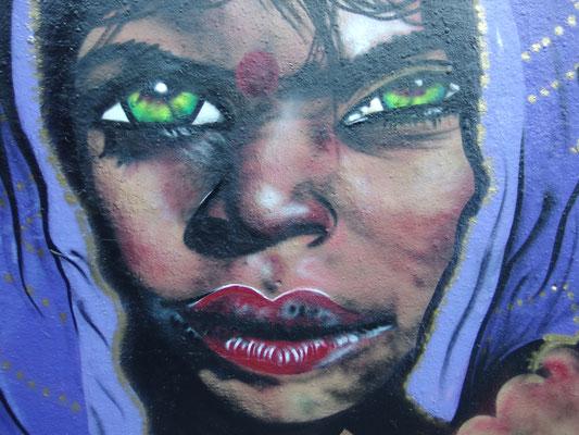 Girl with Green Eyes,  Leake Street, London, 2015