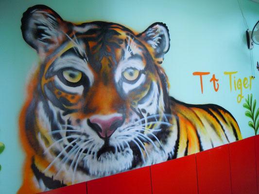 Tiger at DD Dragon School, CHINA, 2013