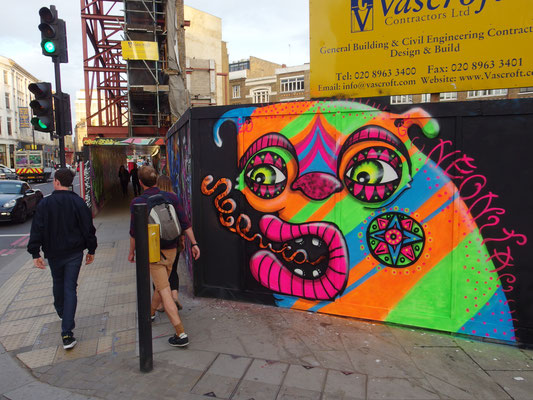 Go Glow Monster, Commercial Street, London, 2015