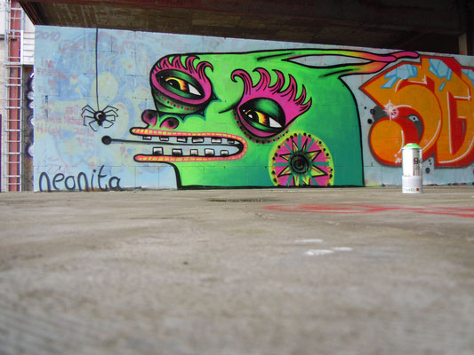 Green Rabbit, Teufelsberg Hill, Berlin, Germany, 2010