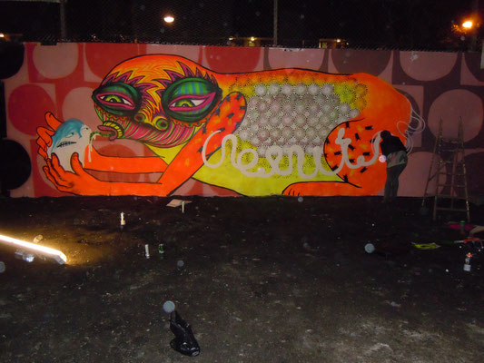 Big Orange in progress, The Westway, Ladbrook Grove, London, 2010