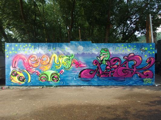 Neonita & Pixie, Beer & Paint Fesival, ADM, Amsterdam, 2016