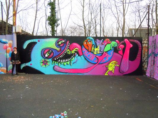 Sweeet, GOT paint Jam, Heatham House, London, 2012