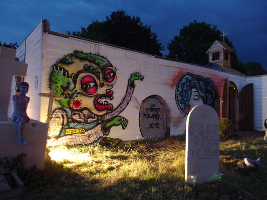 Zombie at Standon Calling Festival, 2015