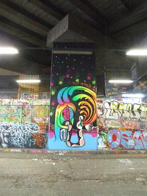Rainbow Lake, Leake Street, London, 2010