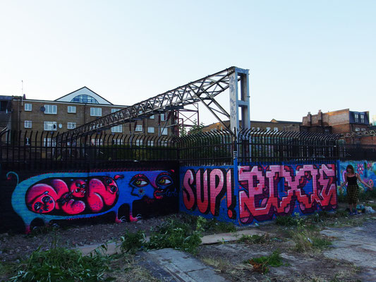 Me, Sup and Pixie, Nomadic Gardens, East London, 2015
