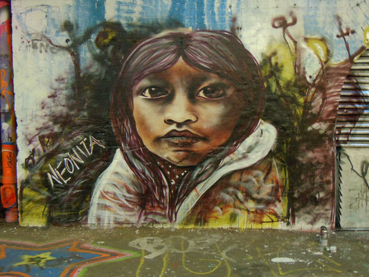 Native American Girl, Leake Street, London, 2012