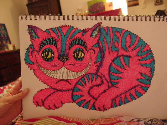Cheshire Cat Sketch, 2014