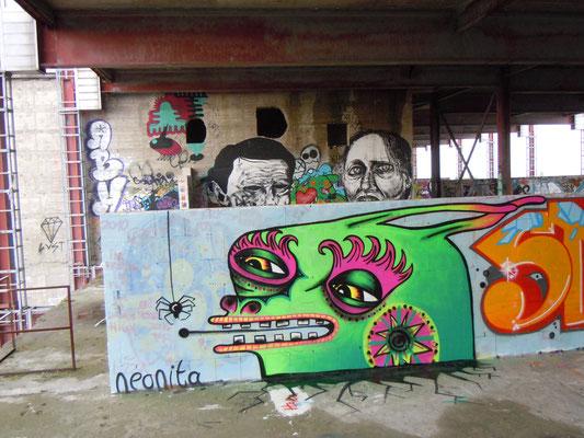 Green Rabbit, Teufelsberg Hill, Berlin, Germany, 2010