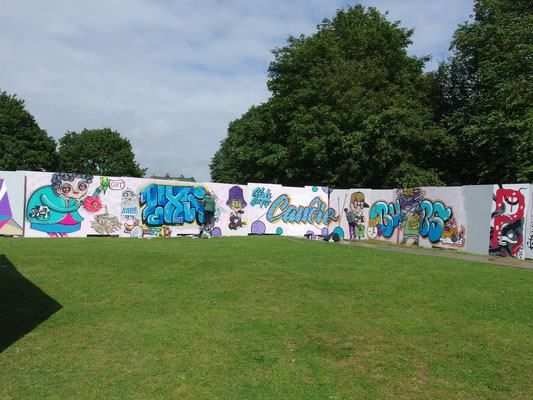 Crew wall at Upfest