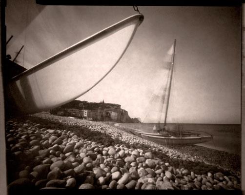 Etretat, voile contre coque, 2012 © Annick Maroussy Amy