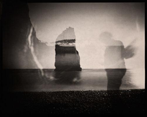 Étretat, Sous une légère brise, naissance de l'Ange, 2012 © Annick Maroussy Amy