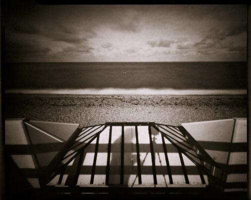 Vers l'horizon, de nuages et d'écume, Etretat 2012 © Annick Maroussy Amy