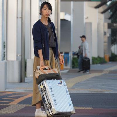 スーツケースにセット