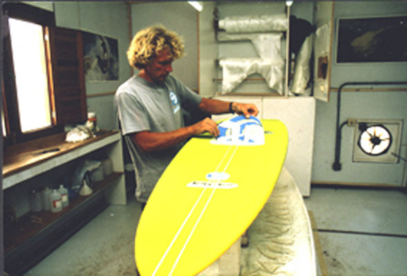 first boards in Fuerteventura around 1988