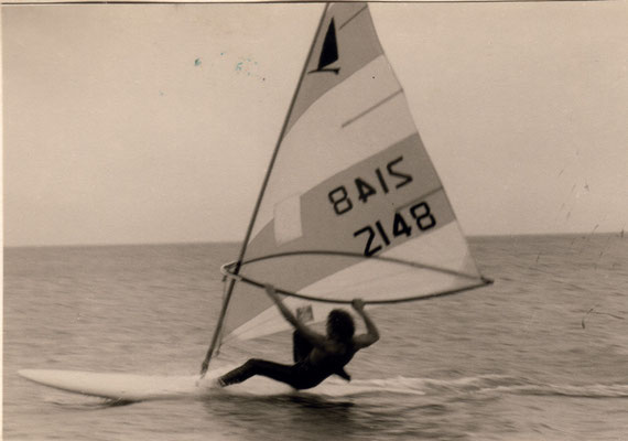 1973 Jürgen enjoys Windsurfing