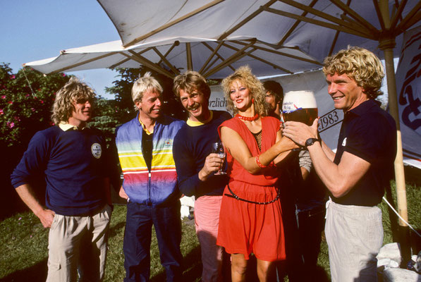 1983 Jürgen wins the Krombacher Cup in Westerland