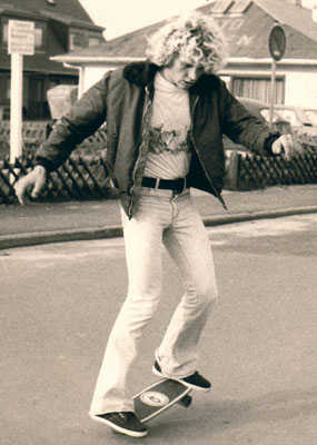 Jürgen around 1976 skateboarding