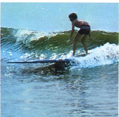 1966 , Jürgen starts surfing, Westerland Sylt