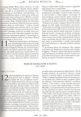 Biblia Warszawsko-Praska (ks. bp. Kazimierz Romaniuk),  Księga Wyjścia (II Mojżeszowa), rozdziały 11-12...