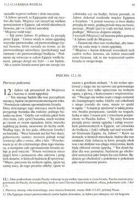 Biblia Poznańska (ks. prof. Aleksy Klawka), Księga Wyjścia (II Mojżeszowa), rozdziały 11-12...