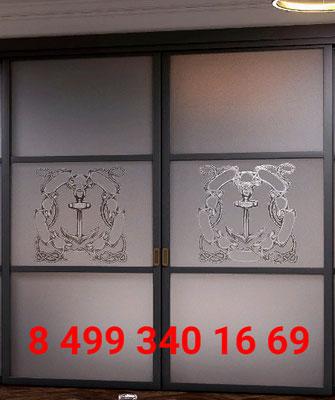 раздвижная дверь с рисунком