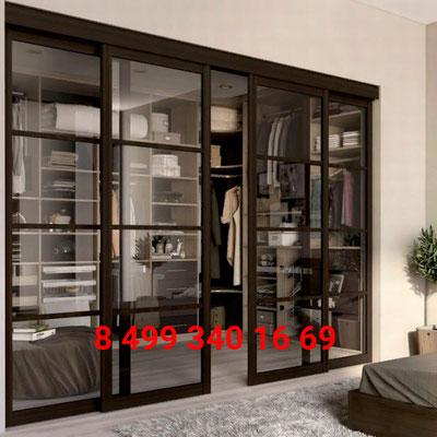гардеробная раздвижные двери фото