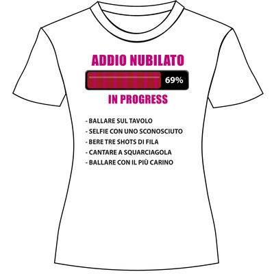 T-shirt personalizzata per la festa di addio nubilato