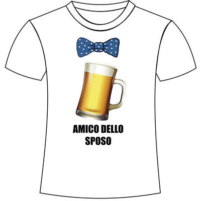 T-shirt personalizzata per gli amici dello sposo per la festa di addio celibato