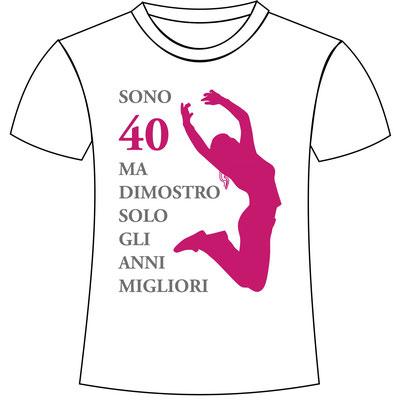 T-shirt personalizzata con stampa per festa di compleanno