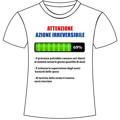 Maglietta stampata per addio celibato