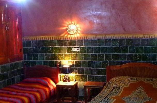 Chambre sur petit patio La Terrasse des Délices, Oasis de Fint
