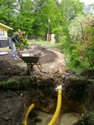 entw sserung drainage unser kleingarten ein kleines paradies entsteht. Black Bedroom Furniture Sets. Home Design Ideas