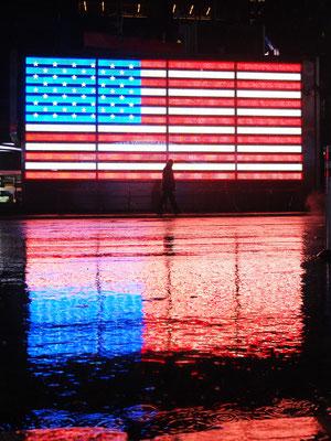 USA Flag Time Square