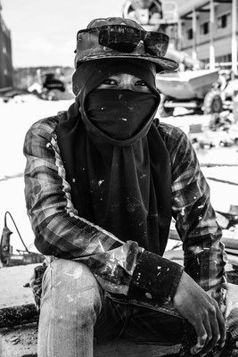 Worker in Phi Phi Island