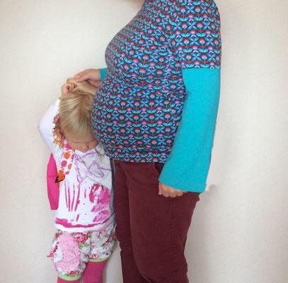 Freebook Shwangerschafts- und Stillshirt, genäht von Frau Käferin