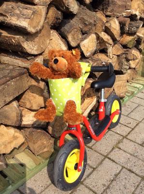 Lenkertasche mit Beinlöchern für den Teddy