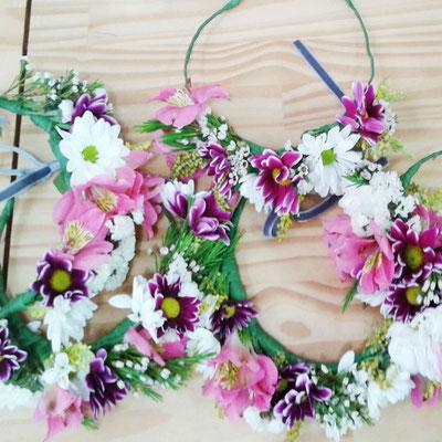 taller corona de flores