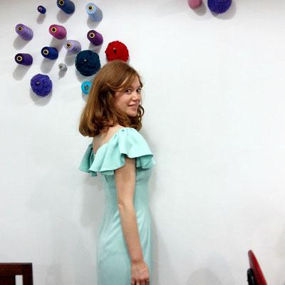 Vestido cóctel primer plano