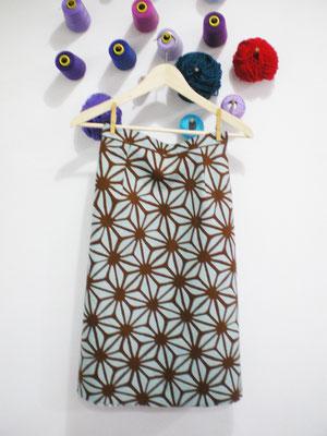 falda evasé con tela japonesa