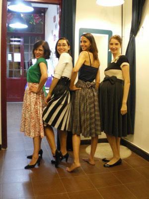 faldas de capa con ritmo