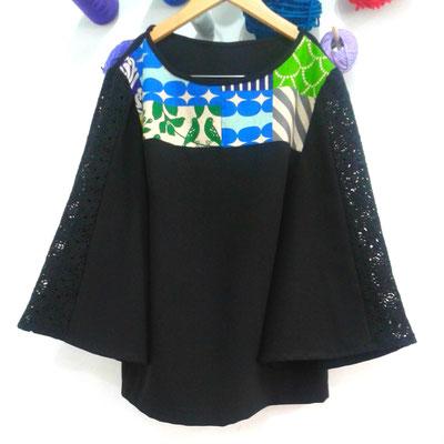 Top combinado con nuestras telas japonesas