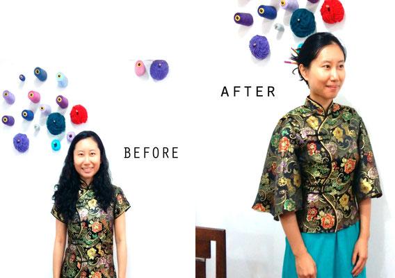 Reciclaje de prendas: el antes y después