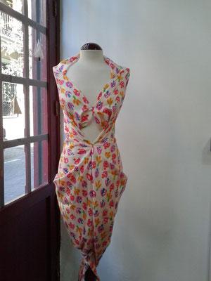 diseño de vestido efímero