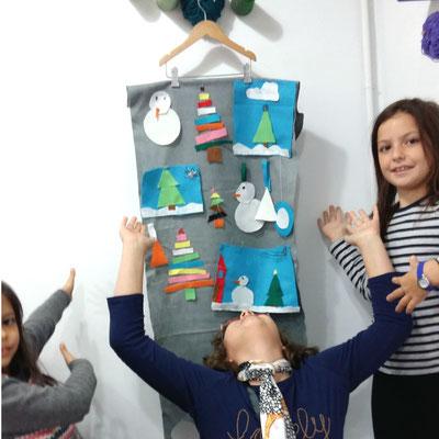costura para niños: adornos navideños
