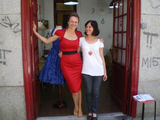 Emma Suarez compañera de rodajes en Teté