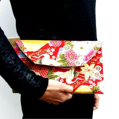 Bolso de mano con nuestras telas japonesas