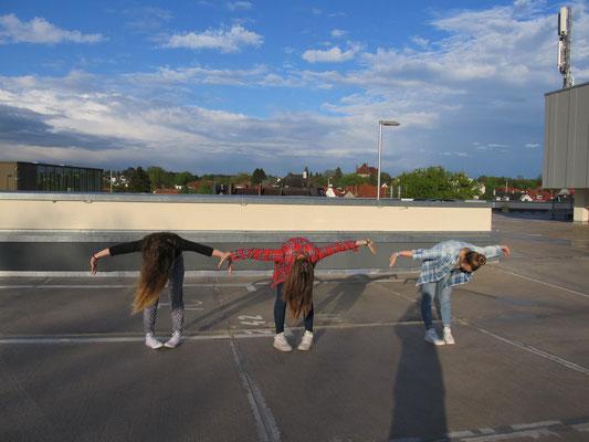 Training auf dem Parkdeck/Freiheit